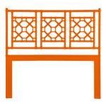 Lattice Back Headboard Queen - Orange