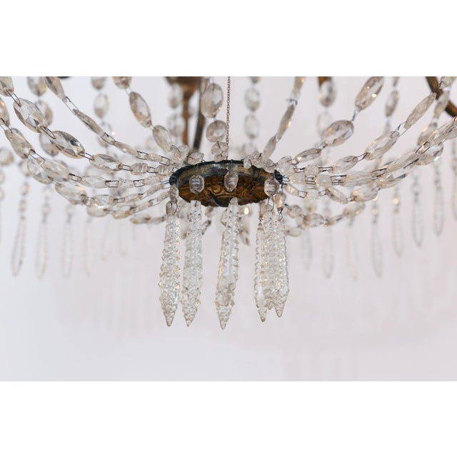 Large-Scale Neoclassical Chandelier For Sale In Houston - Image 6 of 13