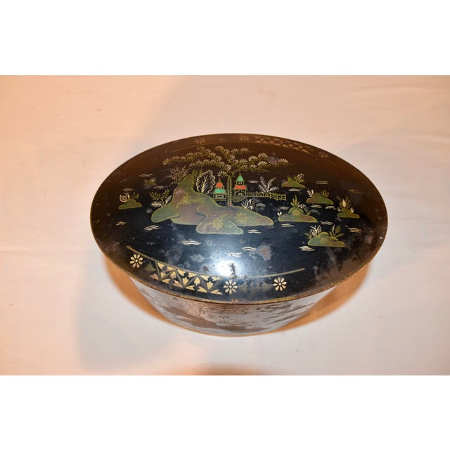 Late 19th Century Late 19th C Chinoiserie Tea Tin For Sale - Image 5 of 8