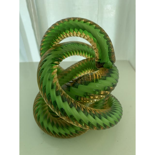 Glass Czech Republic Glass Knot by Fusion Z For Sale - Image 7 of 7