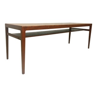 Danish Modern Teak Coffee Table by Ludvig Pontopiddian For Sale
