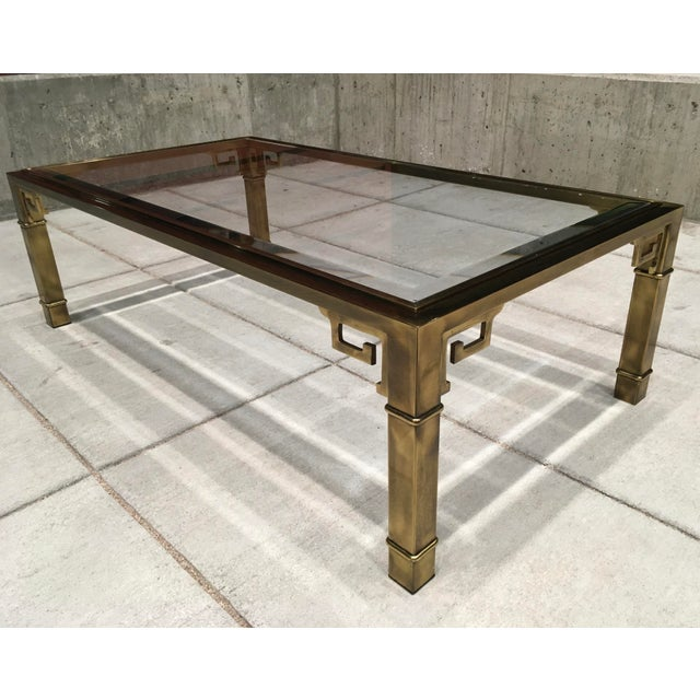 1970s Mid-Century Greek Key Coffee Table by Mastercraft For Sale - Image 5 of 13