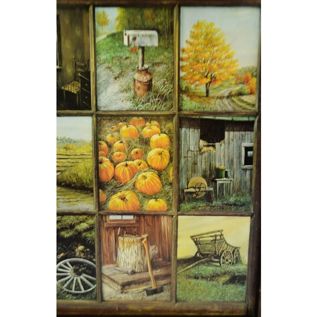 Vintage Home Interior Homco 12 Panel Rustic Window Pane Picture Prints By B Mitchell Chairish