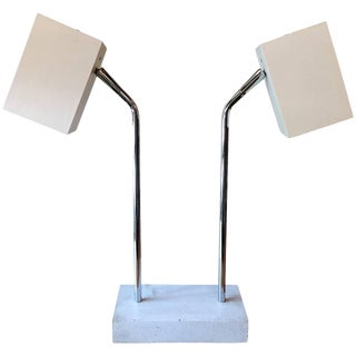 1960s Robert Sonneman for George Kovacs Double Headed Table Lamp For Sale