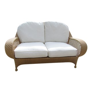 Oscar De La Renta for Century Furniture, Punta Gana Wicker Settee