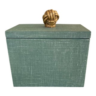 Green Box With Gold Knot For Sale