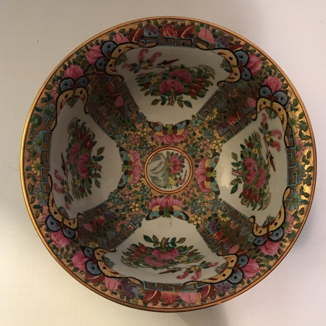 Late 20th Century Rose Medallion Bowl For Sale - Image 5 of 11