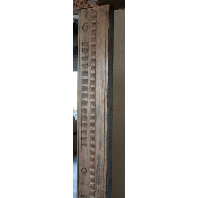 Antique Wood Carved Mirror For Sale - Image 4 of 11