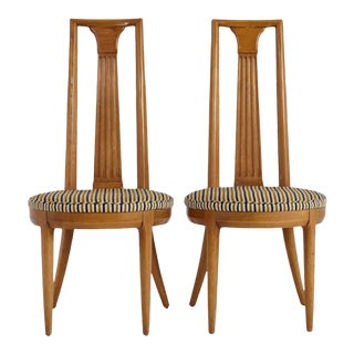 """1960s Tomlinson """"Sophisticate Collection"""" No.63 Dining Chairs - a Pair For Sale"""