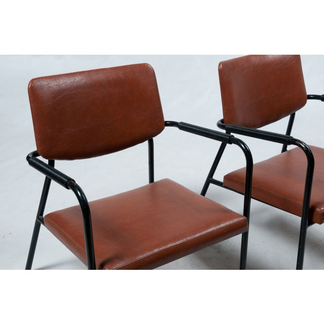 1950s Leather Armchairs - A Pair - Image 4 of 7