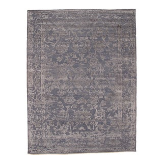 Pasargad N Y Modern Hand Knotted Silk Rug - 9' X 12' For Sale