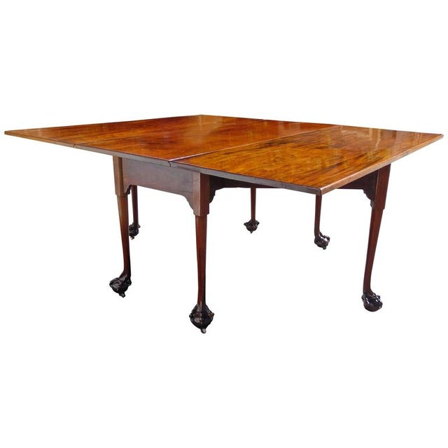 English Chippendale Reticulated Ball and Claw Foot Drop-Leaf Table For Sale - Image 11 of 11