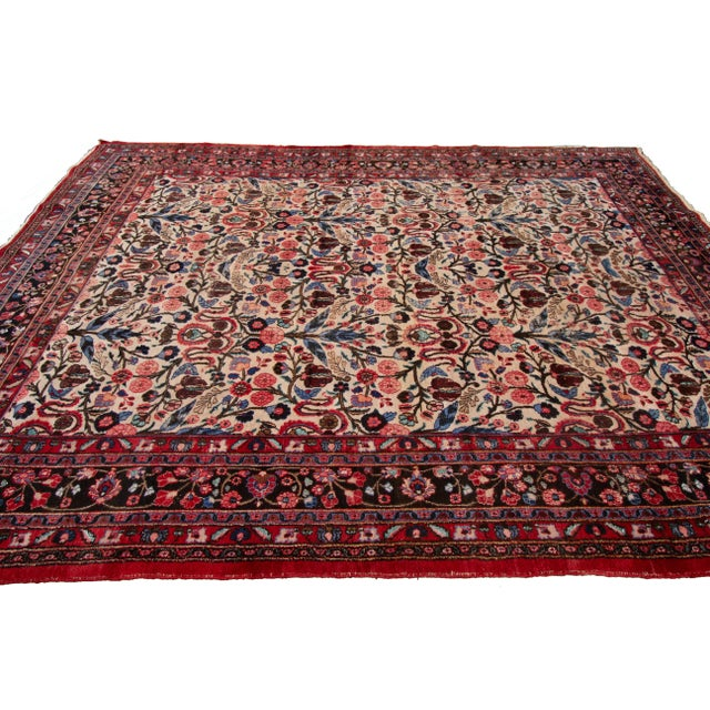 """Textile Vintage Persian Rug, 8'10"""" X 12'09"""" For Sale - Image 7 of 9"""