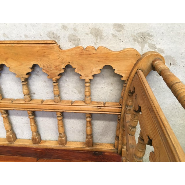19th Century Large Pine Country Bench or Daybed For Sale - Image 10 of 11