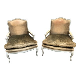 Mid 18th Century Antique Louis XV Bergere Chairs - A Pair For Sale