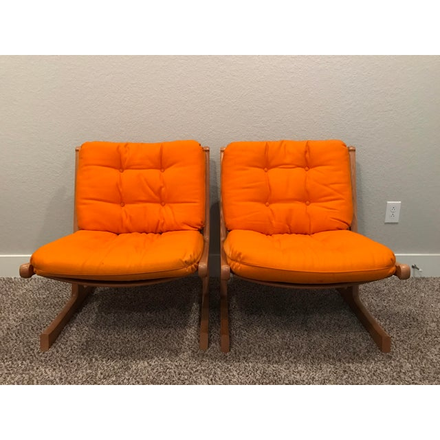 Danish Mid-Century Modern France and Son Siesta Easy Chairs - A Pair - Image 6 of 11