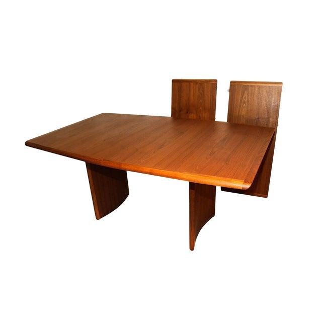 danish modern teak expandable dining table  chairish