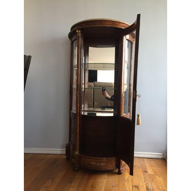 Burlwood Mirrored Curio Cabinet - Image 3 of 8