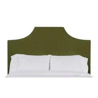 Kit Full/Double Headboard, Olive Velvet For Sale