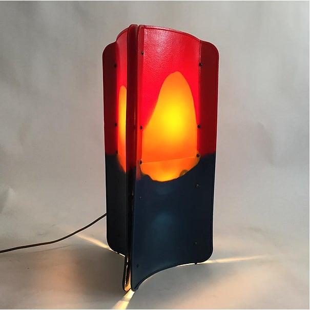 Contemporary Gaetano Pesce Triangle Lamp For Sale - Image 3 of 3