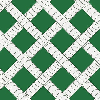 House of Harris Park Fabric, Green Reverse For Sale