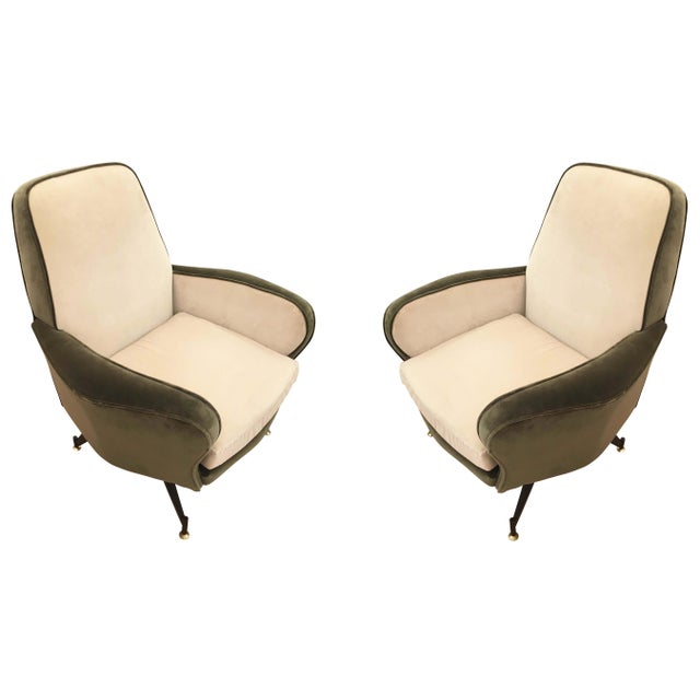 Pair of Lounge Chairs Attributed to Formanova, Italy, 1960's For Sale In New York - Image 6 of 6