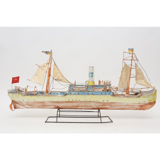 Large Model Boat Ship with Stand - Image 2 of 9