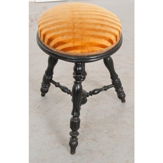French Early-20th Century Ebonized Piano Stool For Sale - Image 4 of 10