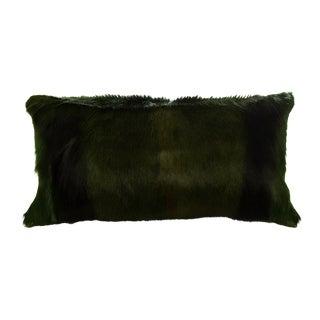 Springbok Pillow in Emerald 18x10 For Sale