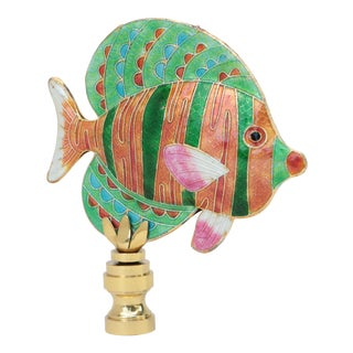 Striped Reef Fish Lamp Finial For Sale