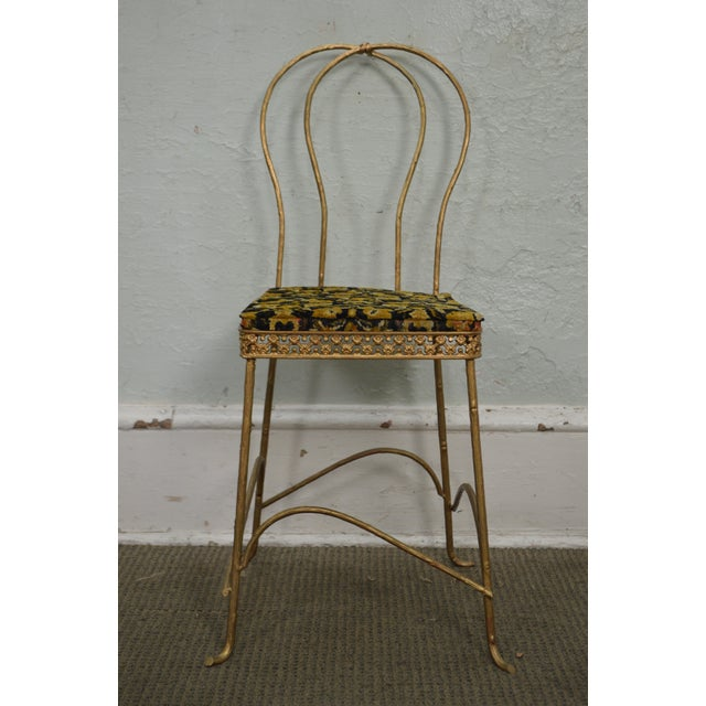 STORE ITEM #: 15887 Antique Gilt Metal Faux Bois Aesthetic Side Chair AGE/COUNTRY OF ORIGIN – Approx 125 years, America...