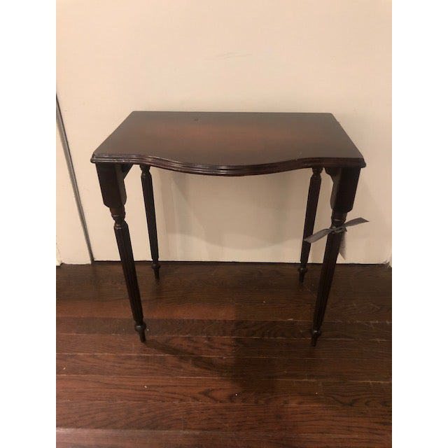1970s Chippendale Mahogany Side Table For Sale - Image 4 of 4
