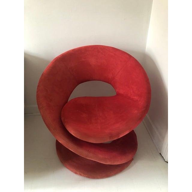 Postmodern Jaymar Spiral Sculptural Ribbon Chair For Sale - Image 3 of 6