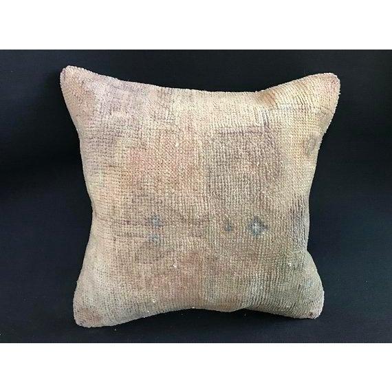 1960s Art Nouveau Handwoven Oushak Wool Pillow Case For Sale - Image 10 of 10