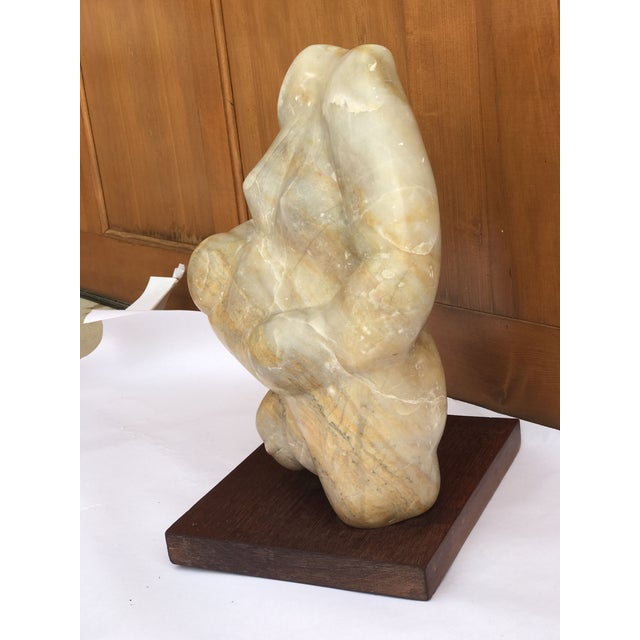 Contemporary Mid Century Solid Onyx Figural Sculpture For Sale - Image 3 of 6