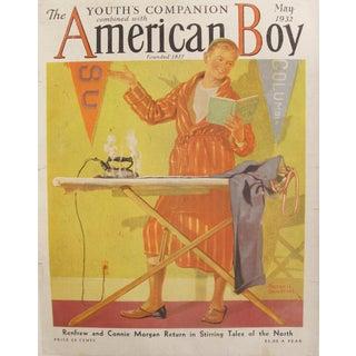 1932 Original The Youth's Companion American Boy Magazine Cover - Russel Sambrook