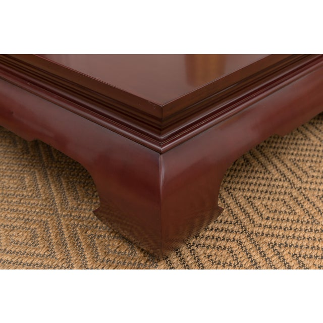 Lacquer Claret-Red Coffee Table by Baker - Image 3 of 3
