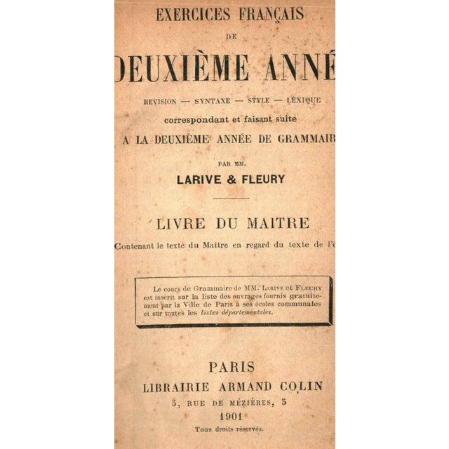 Exercices Francais de Deuxieme Annee. Paris: Librairie Armand Colin, 1901. 192 pages. Hardcover.