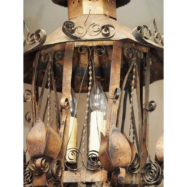 Tole Lantern Form Light - Image 4 of 10