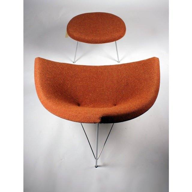 1950s Museum Quality Early Coconut Chair & Ottoman by George Nelson for Herman Miller For Sale - Image 5 of 10