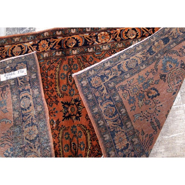 Textile 1920s Handmade Antique Persian Sarouk Rug 2.1' X 3.10' For Sale - Image 7 of 9