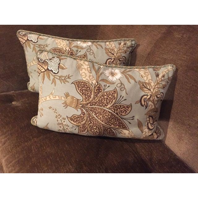 Custom Schumacher Throw Pillows - A Pair - Image 2 of 6