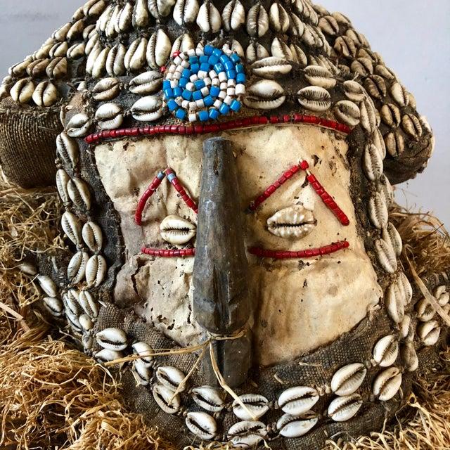 Vintage Kuba Mukenga elephant mask, Democratic Republic of Congo, Africa.