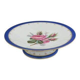 Antique Hand-Painted Rose Cake Stand