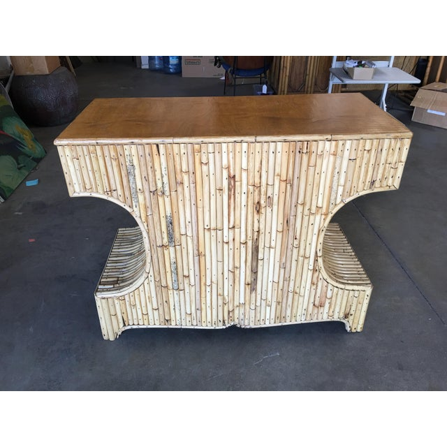 """Restored Stacked """"Anvil"""" Sofa Table Cabinet W/ Mahogany Top For Sale In Los Angeles - Image 6 of 10"""