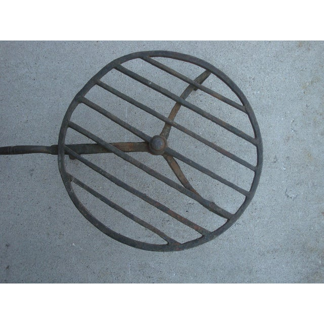 "Adirondack 24"" Antique Fireplace Hearth Forged Iron Trivet For Sale - Image 3 of 8"