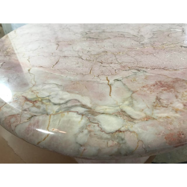 Vintage Pink Marble Coffee Table - Image 5 of 6