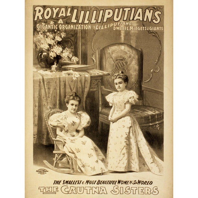 """Royal Lilliputians"" Reproduction 1800s Vaudeville Poster Print - Image 2 of 5"