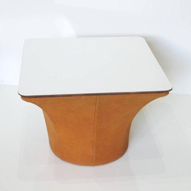 Orange Pierre Paulin Style Mid-Century Modern Mushroom Side Tables - a Pair For Sale - Image 8 of 11