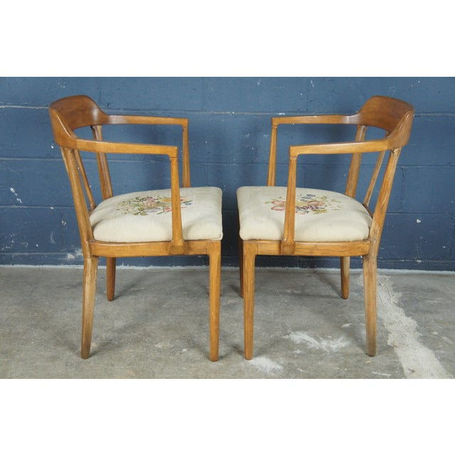 Camel Mid Century Modern Tomlinson Walnut Dining Chairs- A Pair For Sale - Image 8 of 11